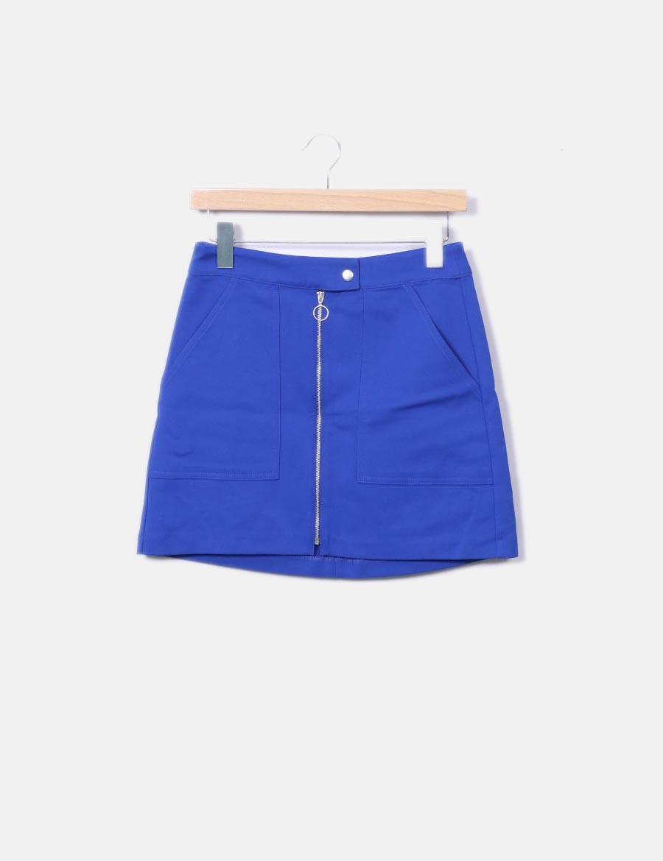 38500fb3ee azul Faldas cremallera Minifalda Bershka baratas online 6wqvaU0 for ...