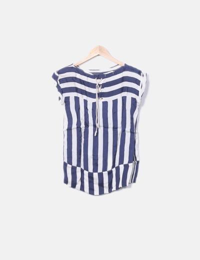 368649a77c22 Blusa de rayas azul marino y blanco