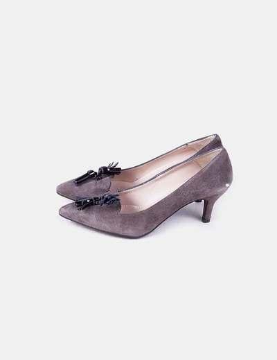 Zapatos heels ante taupé