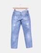 Jeans denim azul medio tobillero Zara