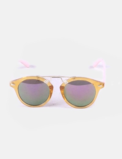Gafas de sol bicolores detalle metálico
