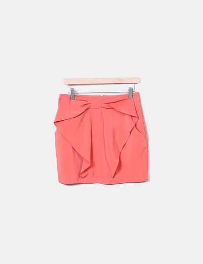 Mini-jupe orange à ruban H&M