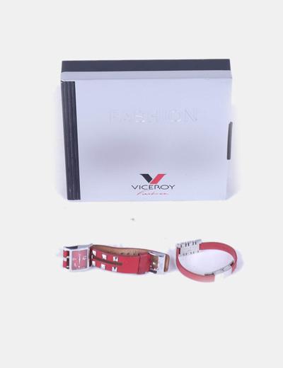 Conjunto de reloj y pulsera rojos Viceroy