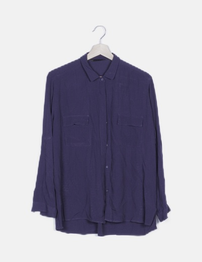 Camisa azul marino básica
