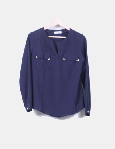 Blusa azul marino F & P