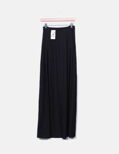 Falda larga negra cordon