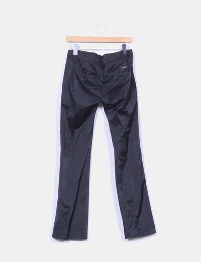 Pantalon raso negro