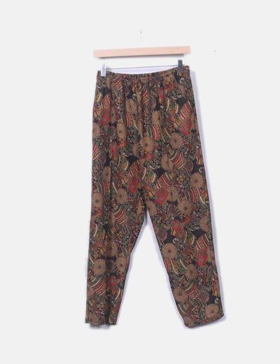 Pantalón fluido estampado vintage