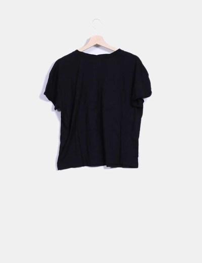 Camiseta manga corta negra