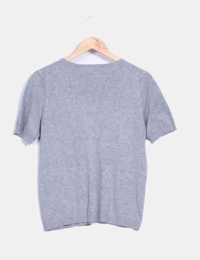 Jersey gris plumeti manga corta