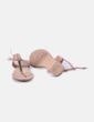 Sandalia beige detalle metálico Pull&Bear