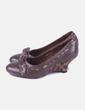 Zapatos cuña marrón NoName