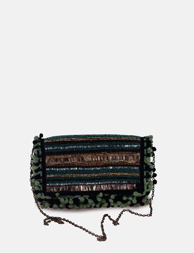 Bolso de paillettes glitter con borlas