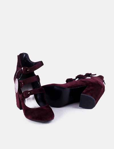 Zapato Velvet Granate Zapato Velvet De Tacón Zapato Tacón De Granate w0kOnP