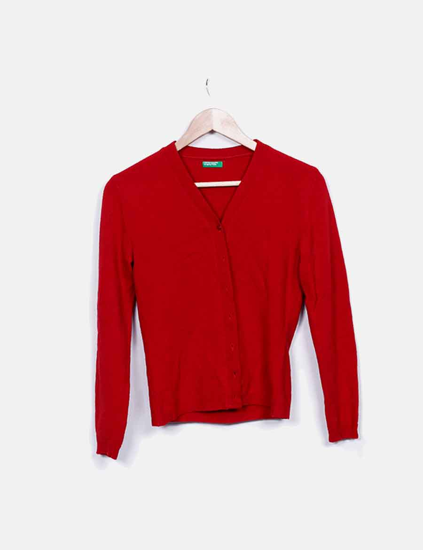 rojo Mujer Abrigos Chaquetas Cárdigan online y baratos Benetton Ewq8xHxX