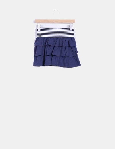 Mini falda navy con volantes