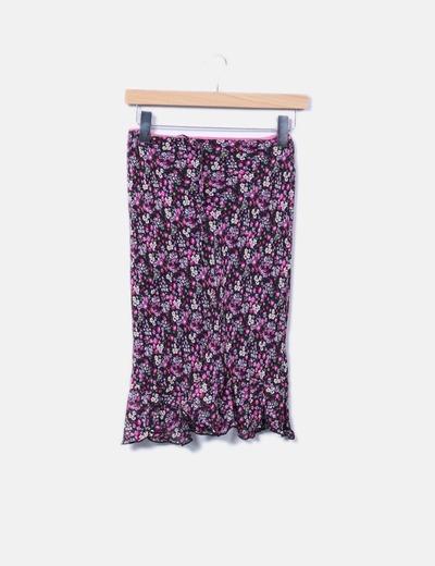 Falda midi estampado floral NoName