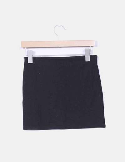 Mini falda negra basica