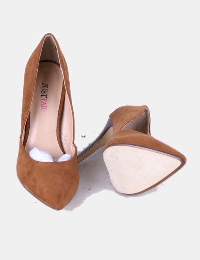 JustFab Chaussure camel pointe de à talon de (réduction 80%) - Micolet fd9307613ed0