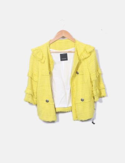 Chaqueta tweed amarilla