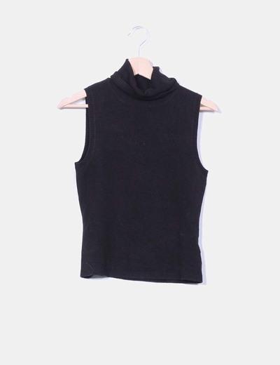 Jersey negro sin mangas con cuello vuelto Last Girl