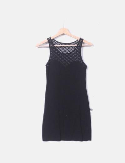 Vestido elástico negro