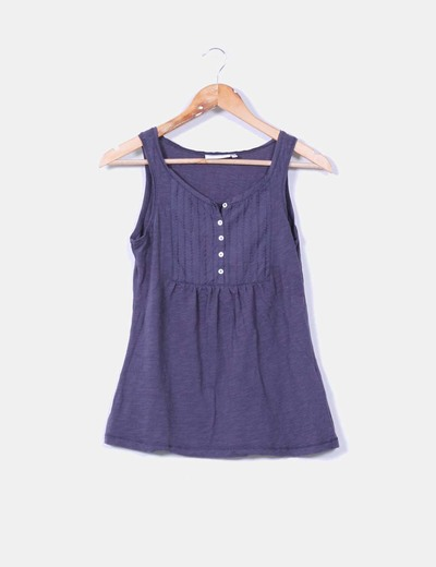 Camiseta azul marina bordada Yessica