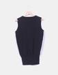 Tricot negro sin mangas con escote en pico Zara