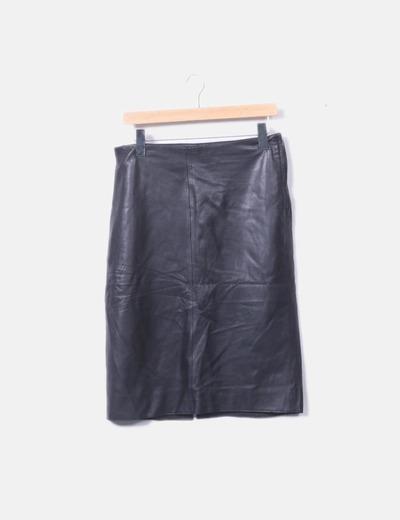 Falda midi negra