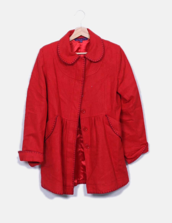 Abrigos amp;Love Peace Mujer y baratos online rojo Chaquetas Abrigo wSx7zXq8z