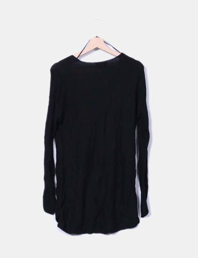 Vestido tricot negro oversize
