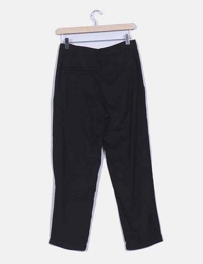 Pantalon pique fluido negro
