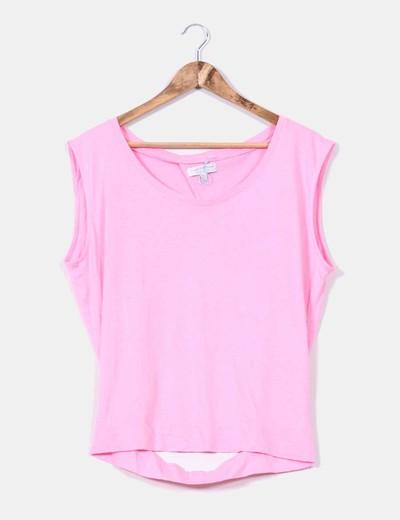 Top rosa espalda descubierta Zara