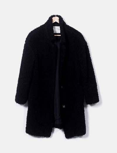 Abrigo peluche negro