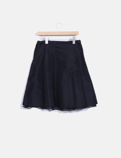 b6d4d066 Falda midi negra con tul
