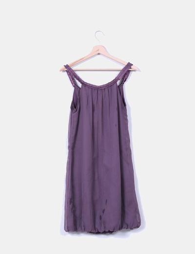 Vestido morado de tirantes Vero Moda