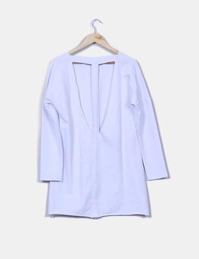 Vestido algodon blanco espalda abierta