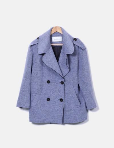 Abrigo azul doble botonadura Bimba&Lola