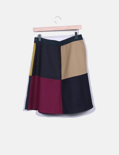 Falda midi colores