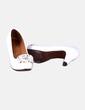 Chaussure à talon blanche avec un bout arrondi Chie Mihara