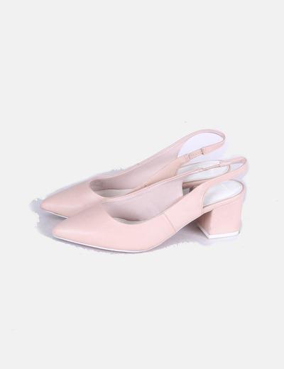 Zapatos destalonados nude Pull&Bear