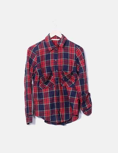 Camisa cuadros rojos