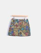 Falda midi con estampado multicolor Zara