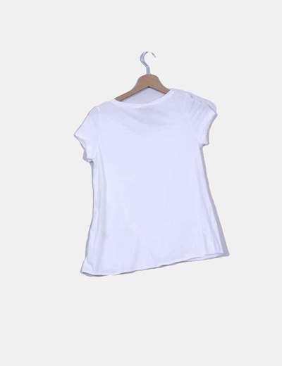Camiseta cruzada blanca