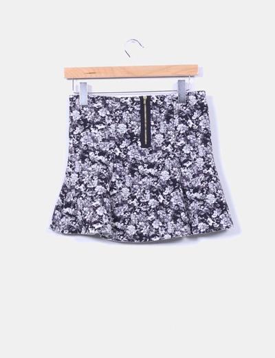Mini falda floral