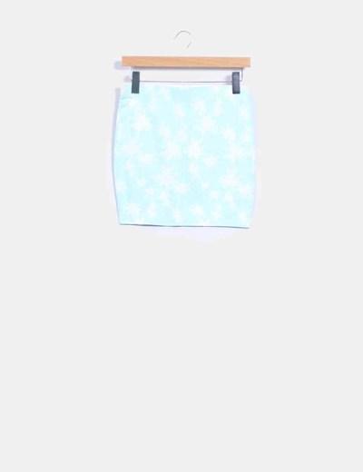 Mini falda mint print palmeras Lefties