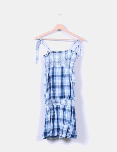 Vestido de cuadros azules