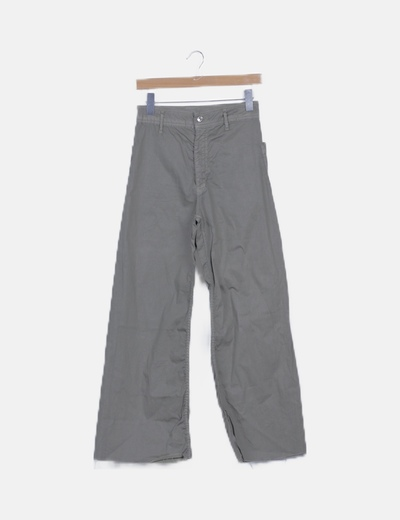 Pantalón kaki campana high waist