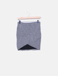 Minifalda gris jaspeada Bershka