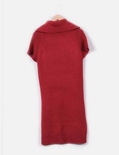 Vestido de punto ochos color rojo
